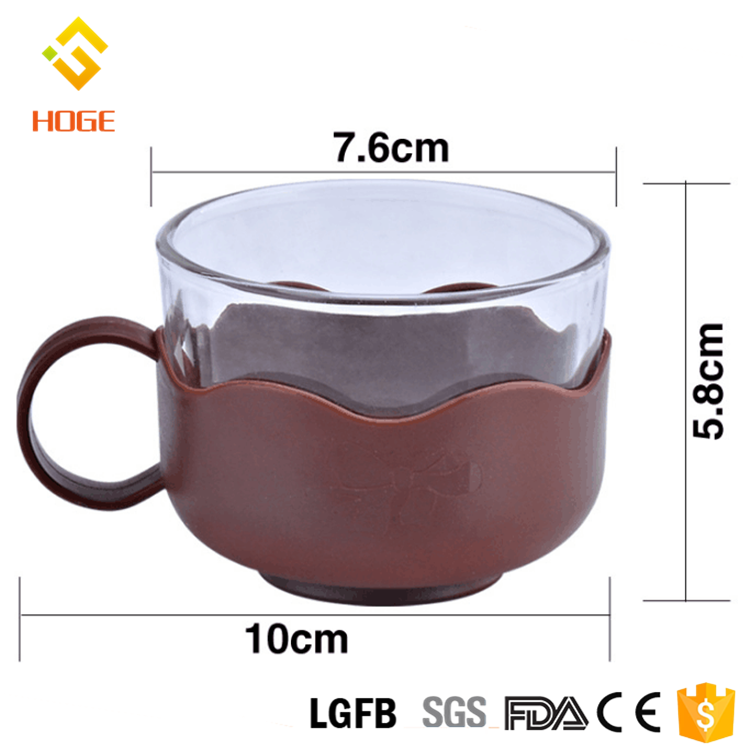 150ml Colorful Reusable Glass Coffee Cup Creative Glass Tea Milk Cup Solo Cup Dink Mug With Plastic Handle Factory Wholesale
