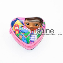 Heart shaped tin mini coin purse , tin purses with zipper