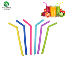 BPA Free Reusable Folding Drinking Straw, Food Grade Custom Silicone Straw
