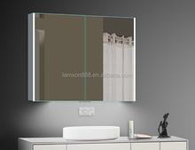 Australia popular illuminated bathroom mirror cabinet ,shaving cabinet with led lights