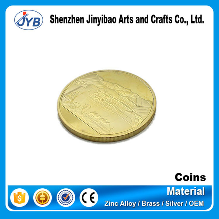 24K fake gold coin in metal crafts with box