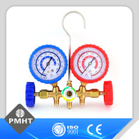 air conditioner parts refrigerant pressure gauges double-meter valve