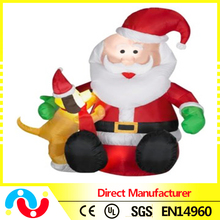 2015 Hot Indoor & Outdoor Led Light Inflatable Santa Claus for Outdoor Christmas Decorations
