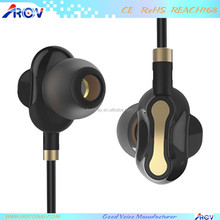 Dual Drivers Wired Earphones Heavy Bass In-ear Hi-fi Headphones with Microphone