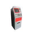 ATM kiosk machine with card reader and cash deposit