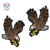Customized Iron On Eagle Velvet Patches Embroidered for Biker Garment