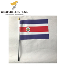 polyester hand wave flags for 32 country football team fans including Costa Rica