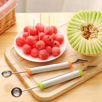 304 Stainless steel Multi Use Fruit Carving Knives Watermelon Melon Balls Ice Cream Scooper Melon Baller