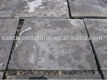 flamed brushed bluestone paving tile