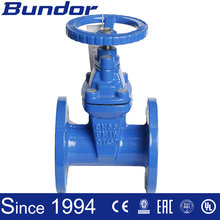 Non ring stem cast iron soft seal flanged gate valve