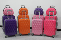 2015 latest fashionable ABS+PC hard luggage bag/ ABS+PC beauty suitcase /hard trolley beauty case