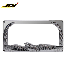 JDI-RHD-905 New fashion metal zinc alloy easy install car license number plate frame