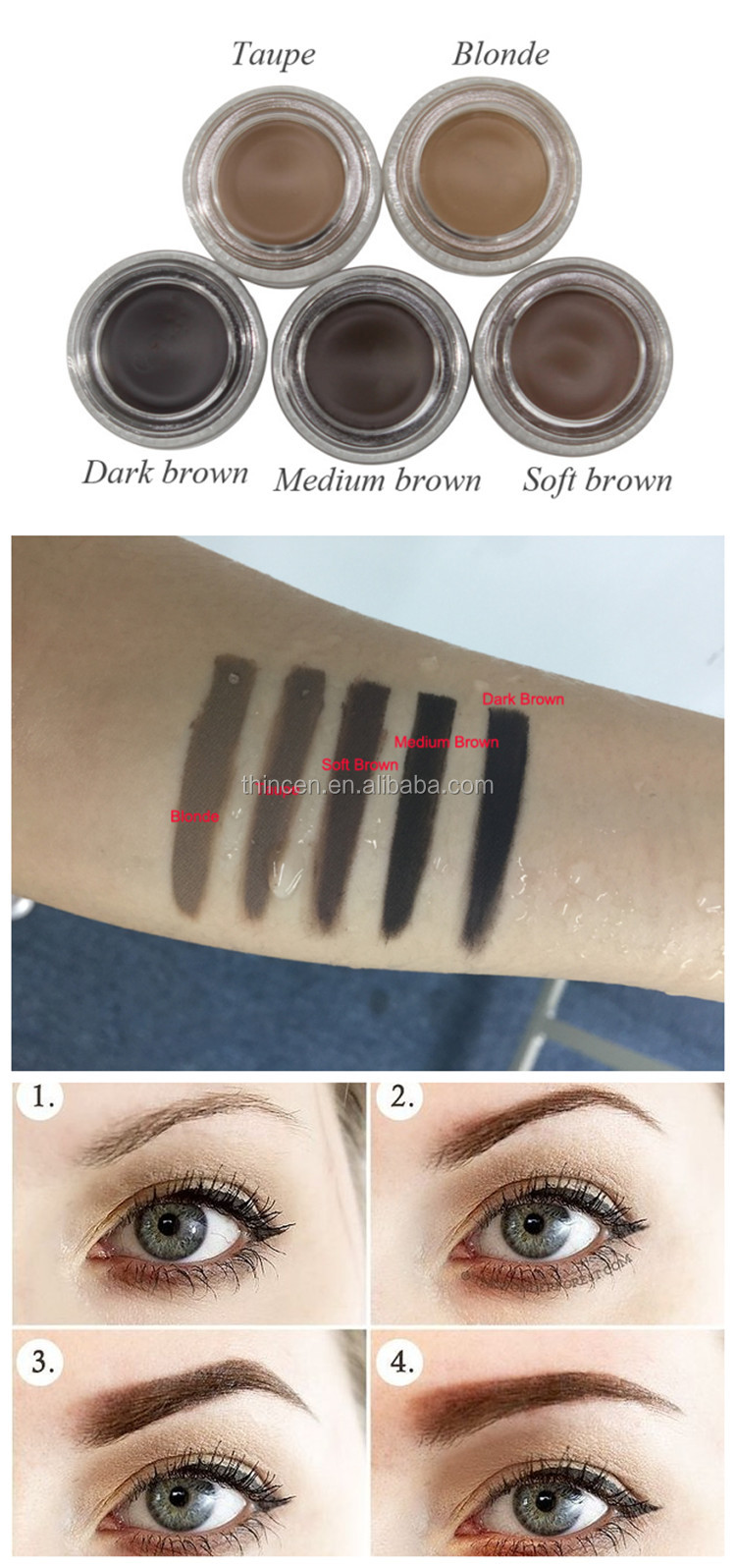 Best Selling Products 2017 In Usa Permanent Makeup Eyebrow Pomade