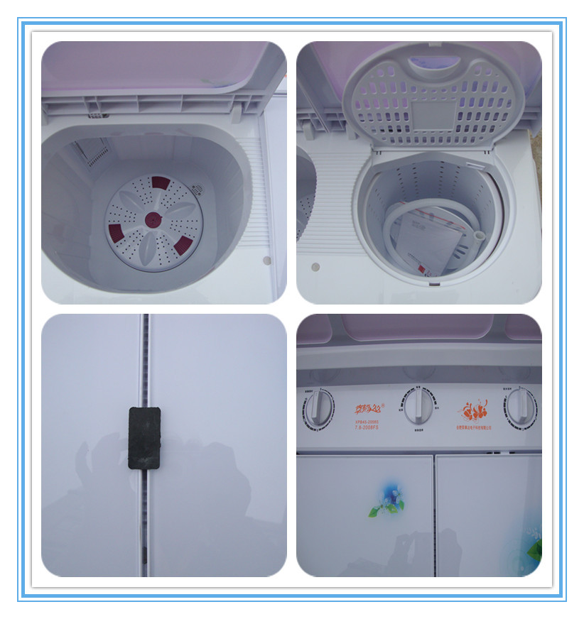 Popular twin tub semi automatic glass washing machines of top loading