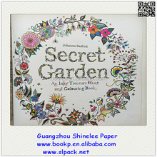 2015 popular high quality secret garden drawing color filling books for adults and children