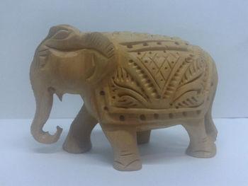 Jaipur handmade wooden home decor elephant wood elephant for Home decor jaipur