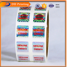 Hologram security sticker holographic label printing companies