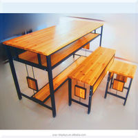 Solid wood tea table/metal tea table/multi-fuction tea/dinner table