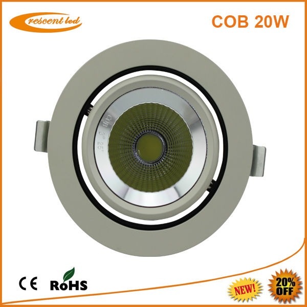 recessed led downlight price 20w cob led flat ceiling downlight