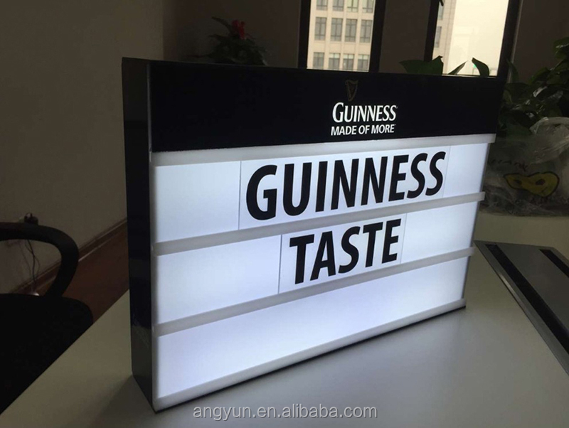 Acrylic Light Box Sign Acrylic Led Display Light Box Board