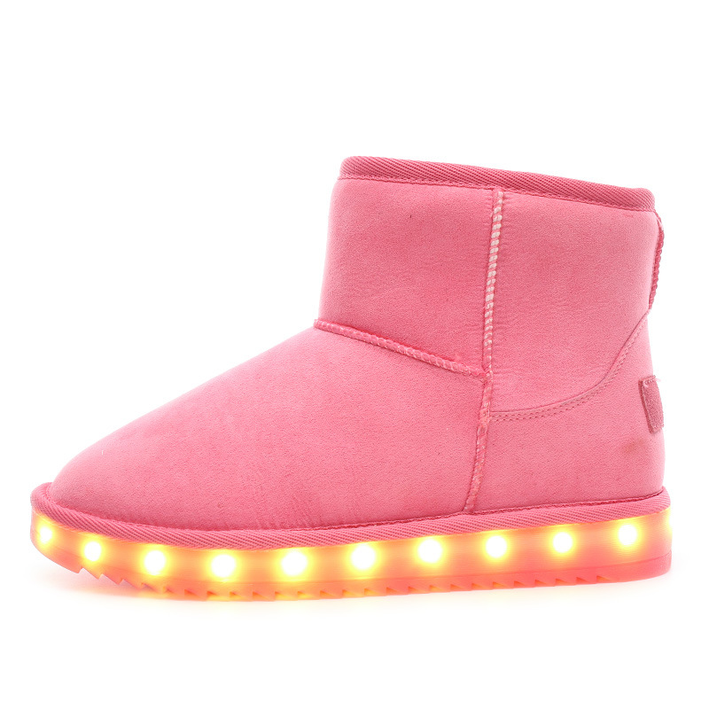 HFS-X22 Fashionable winter high neck women led flat snow boots shoes