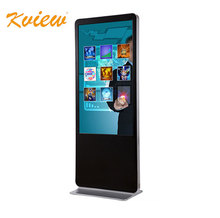 50 inch floor standing touch screen kiosk totem lcd programmable advertising display media player