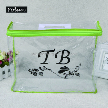 2016 Custom Printed Ziplock pvc Bag, Biodegradable Plastic Cosmetic Bag