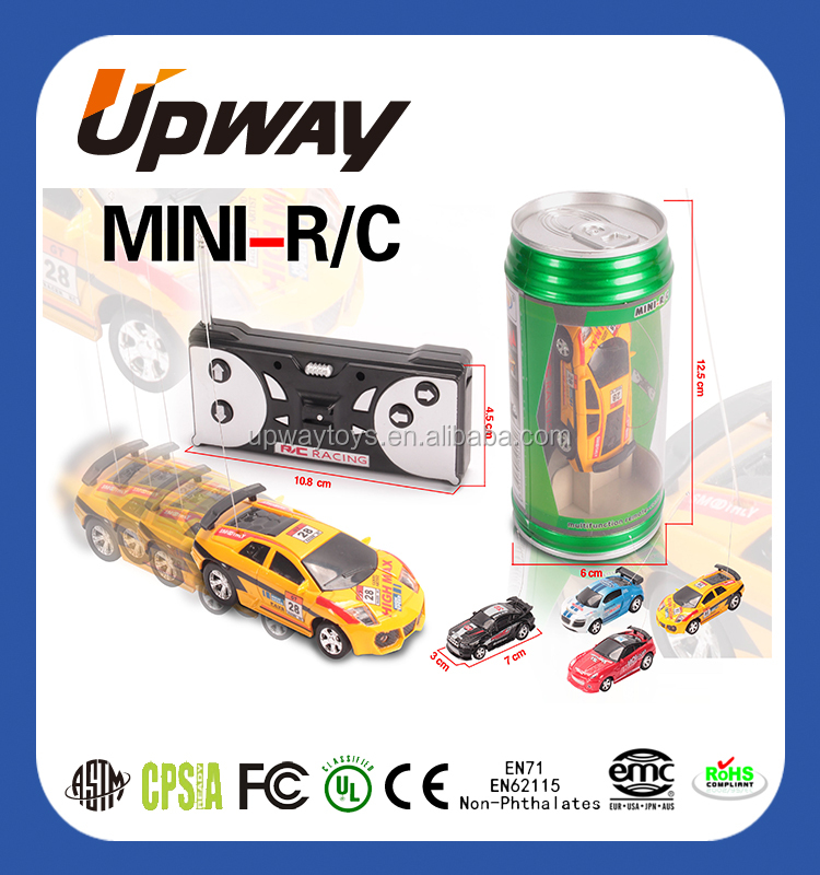 Hot Selling Mini Cola RC Car Toy in PVC Tin
