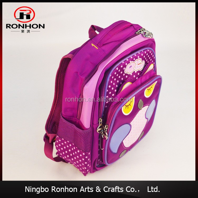 New 2017 design printed Oxford child school bag, backpack school bag cartoon For Teenager