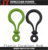 high quality plastic carabiner eight shapeds biner hook ,plastic carabiner keychain