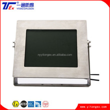17inch Stainless Steel IP54 Full Sealed Explosion Proof Monitor with ATEX certificate