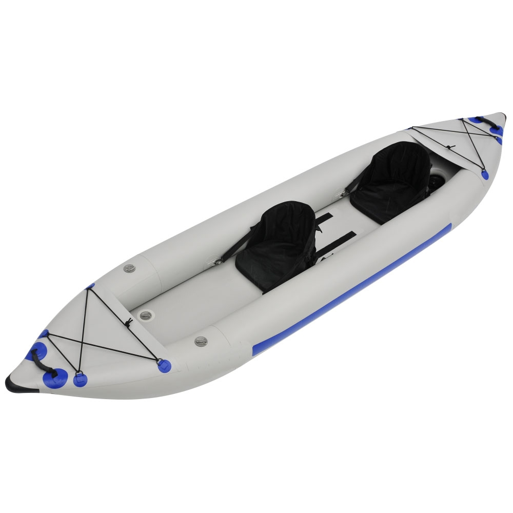 2016 China customize cheap wholesale inflatable fishing boat 2 person kayak sale