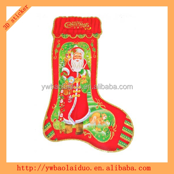 window 3D christmas glass ornaments sticker