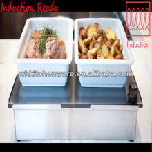 Hotel Service Equipment /Ceramic Pan Inserted In Commercial Buffet Table