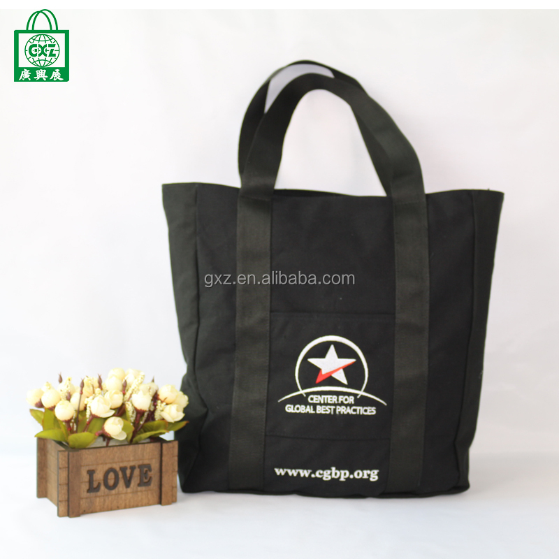 Fashion bag ladies wholesale promotional canvas shopping tote bag casual
