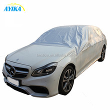 Durable Silver Polyester Taffeta 190T Sedan SUV Outdoor Sun Frost Snow Protection Half Car Cover