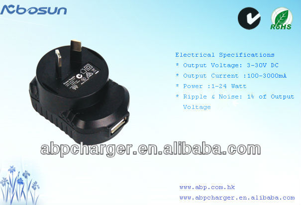 AC to DC Power Adapter, USB Power Adapter ,Switch-mode Power Supply with CE/UL FCC certificate