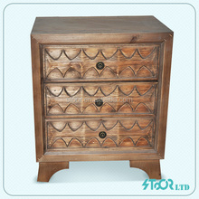 Wholesale shabby chic wood 3 drawer cabinet furniture
