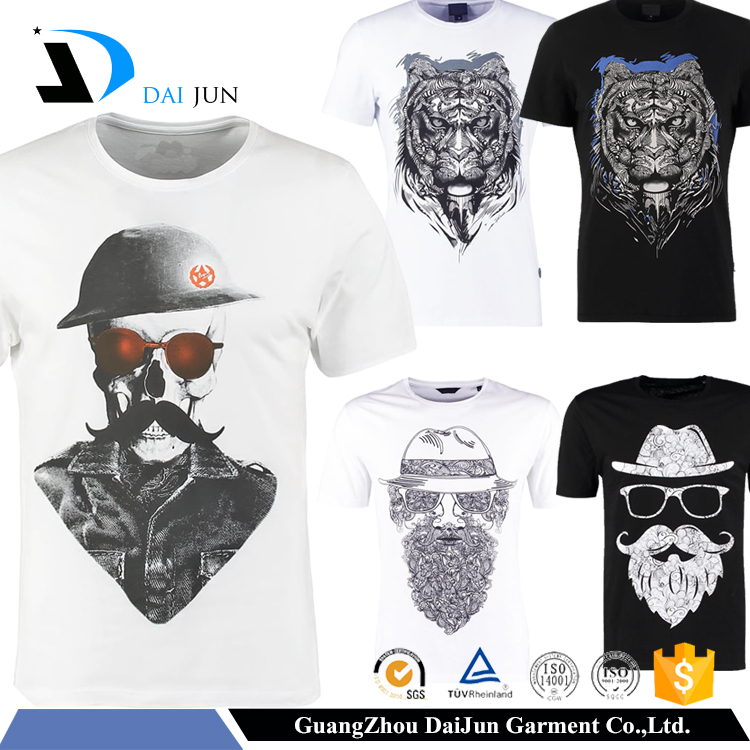 Daijun OEM High Quality Breathable 100% Cotton 180g Anti-Shrink Men Custom T-shirt Printing