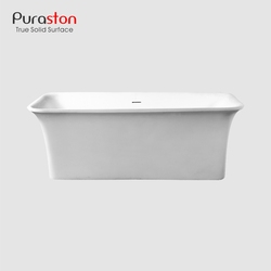 Puraston rectangular PMMA pure acrylic japan spa tub with integral overflow products