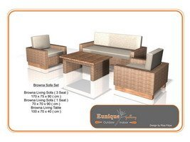 Browna Living furniture Set