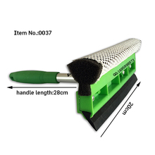 HQ0030 green color with aluminum handle hard sponge rubber window squegee