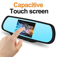 "HD 5.0"" 1080P touch screen GPS ,G-sensor Dual camera wireless car dvr reversing mirror systems"