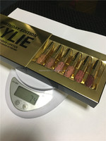 Gold Kylie Jenner lipgloss Cosmetics Matte Lipstick Lip gloss collection lipsticks Mini Leo Kit Lip Birthday Limited Edition