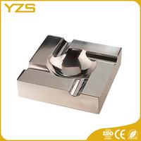wholesale factory custom zinc alloy material plating high quality metal cigar ashtray