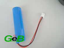 li-ion rechargeable cylindrical battery batteries 18650 3.7V 1900mAh for toys