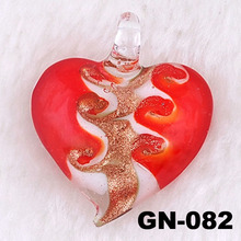 Glass Heart Pendant For Necklace Murano Pendant Jewelry