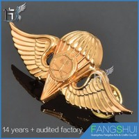 Wholesale popular eagle wing badge button pin badge cheap wholesale