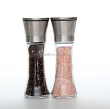 Premium Stainless Steel Salt and Pepper Grinder Set of 2- Brushed Stainless Steel Pepper Mill and Salt Mill