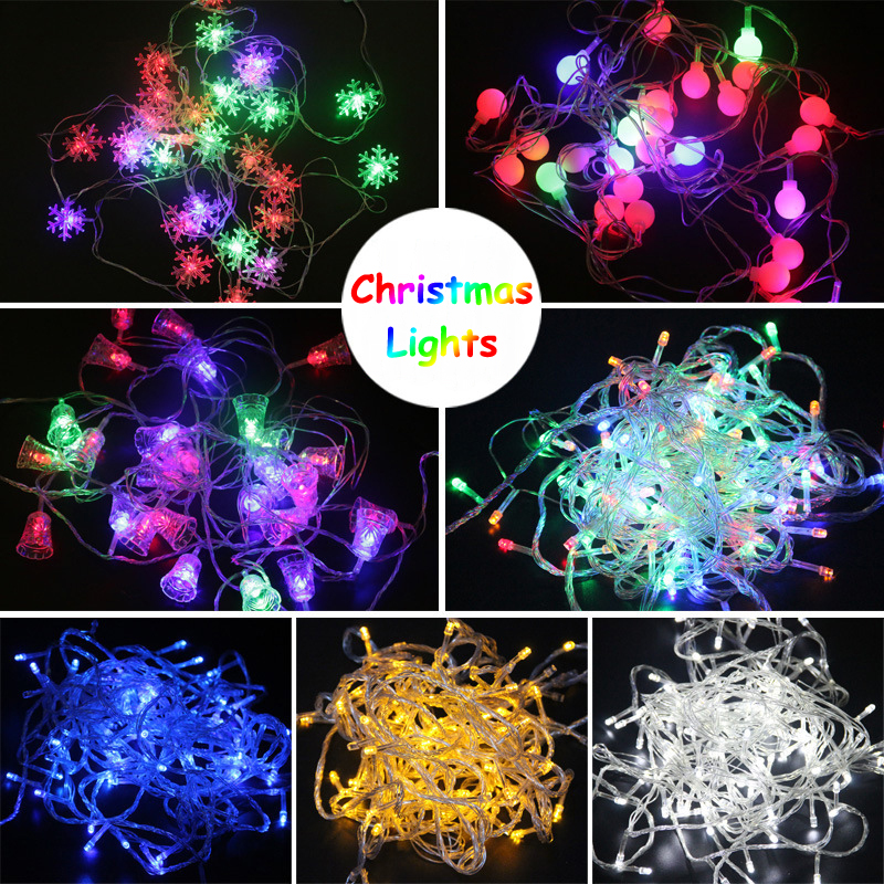 10 meter outdoor Tree Decorations connectable rgb flashing Copper Wire String led holiday Christmas Lights